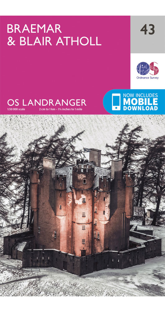 Ordnance Survey BraemarandBlair Atholl - Landranger 43 Map