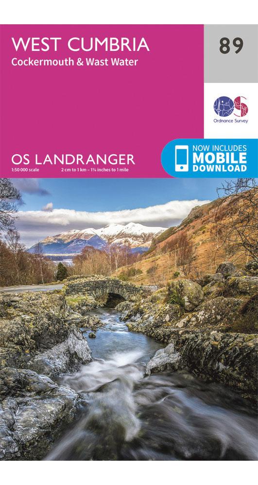 Ordnance Survey West Cumbria, Cockermouth & Wast Water - Landranger 89 Map 0