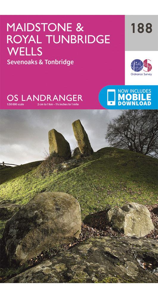 Ordnance Survey Maidstone & Royal Tunbridge Wells - Landranger 188 Map 0