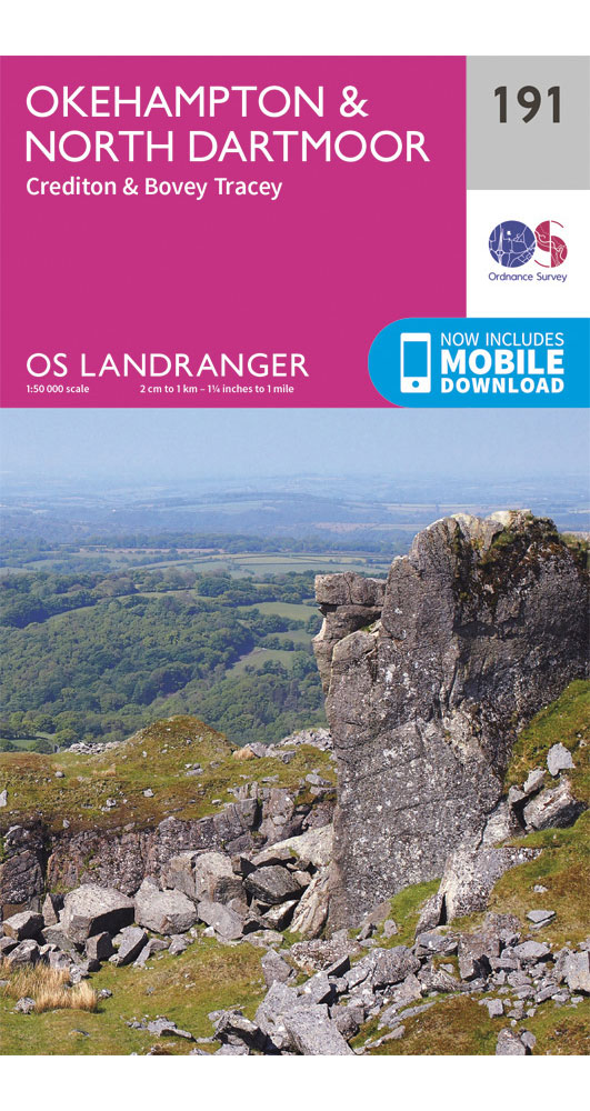 Ordnance Survey Okehampton & North Dartmoor - Landranger 191 Map 0