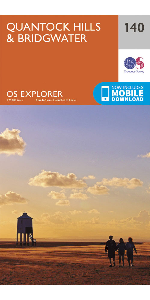 Ordnance Survey Explorer 140: Quantock Hills & Bridgwater  0