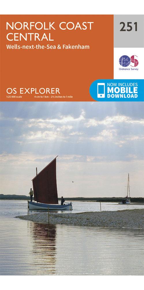 Ordnance Survey Explorer 251: Norfolk Coast Central  0