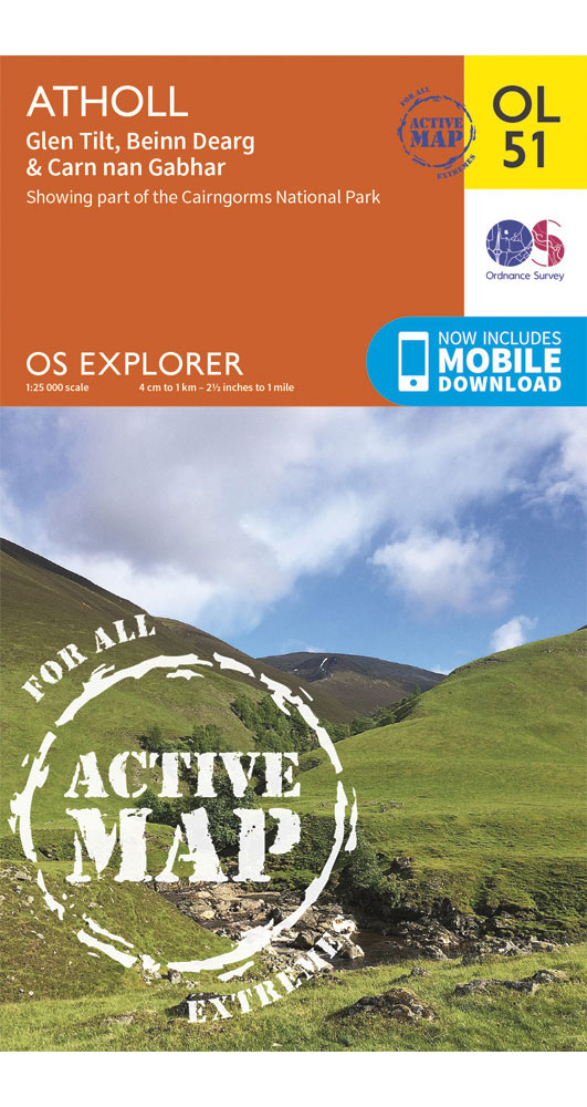 Ordnance Survey Active Explorer Ol51: Atholl