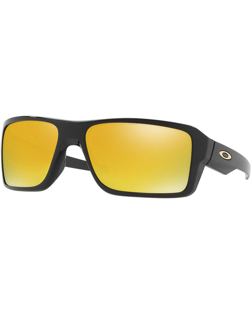 Oakley Double Edge Polished Black / 24K Iridium Polarized Sunglasses 0