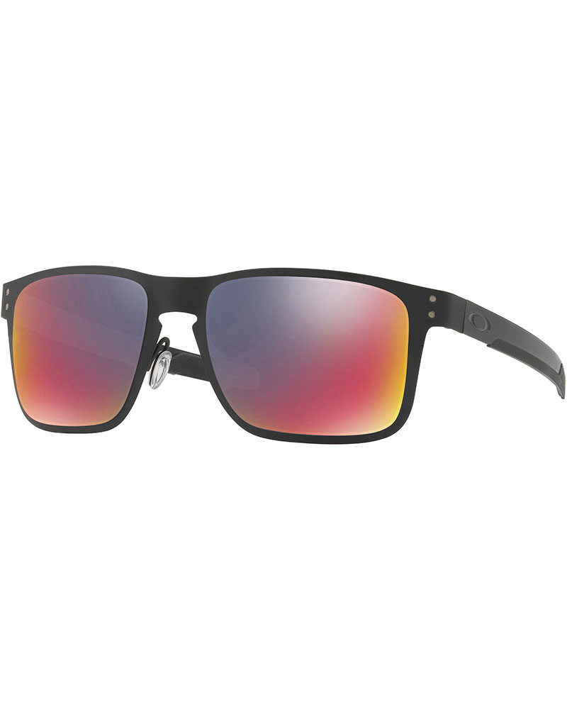 Oakley Holbrook Metal Matte Black / + Red Iridium Sunglasses 0