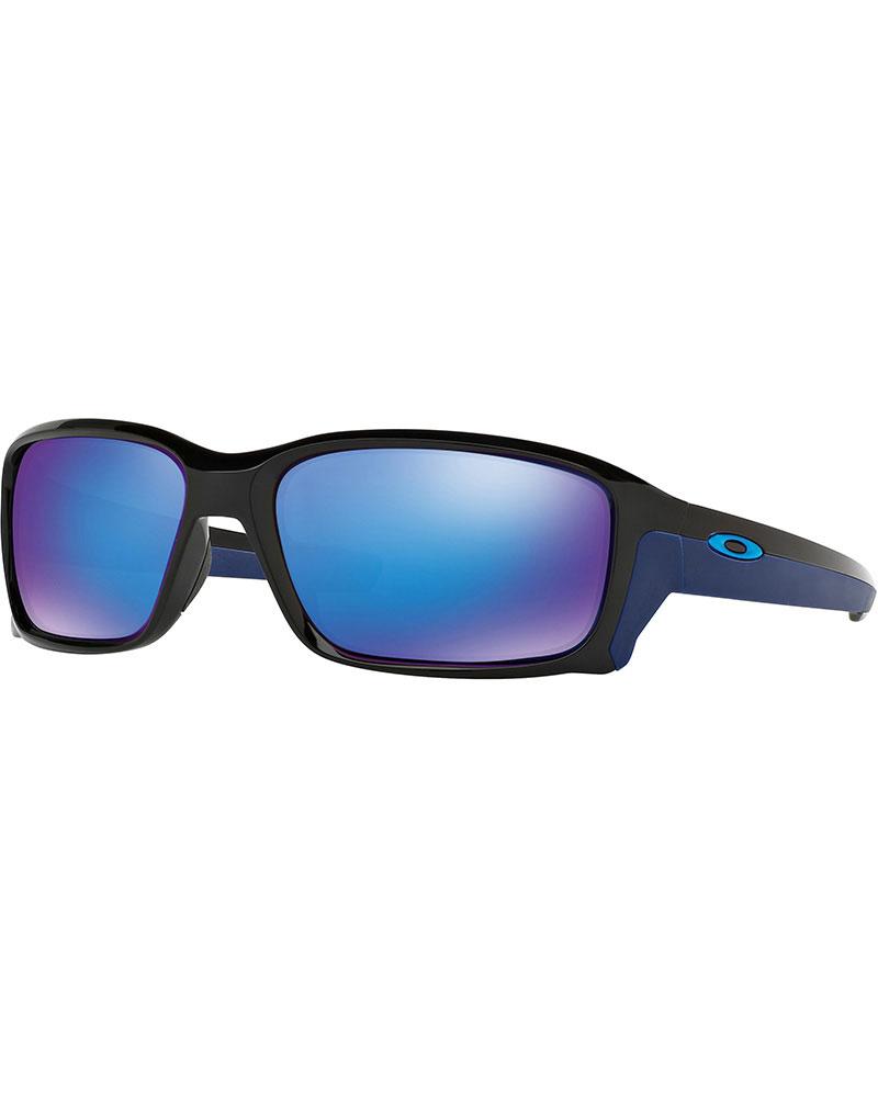 Oakley Straightlink Polished Black / Sapphire Iridium Sunglasses 0