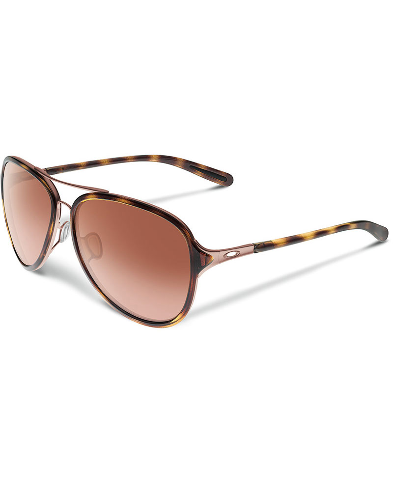 Oakley Women's Kickback Sunglasses Satin Rose Tortoise 0