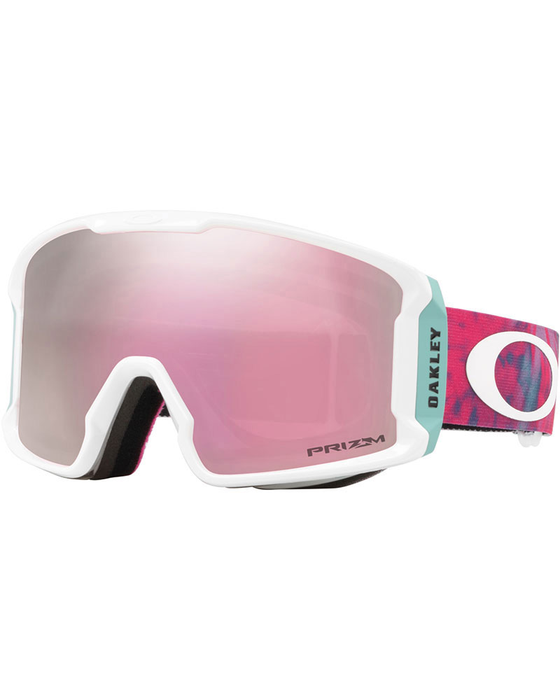 Oakley Women's Line Miner XM Tranquil Flurry Arctic Surf / Prizm High Intensity Pink Iridium Goggles 2018 / 2019 0