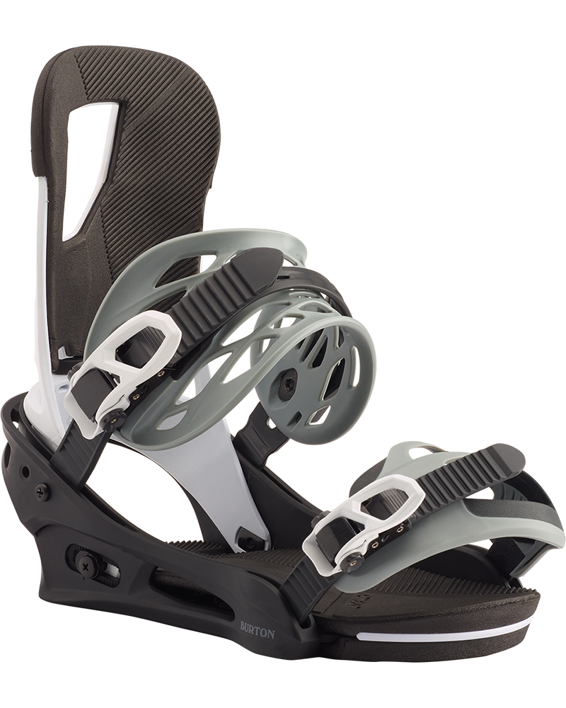 Burton Men's Cartel Snowboard Bindings 2019 / 2020 Black/White 0