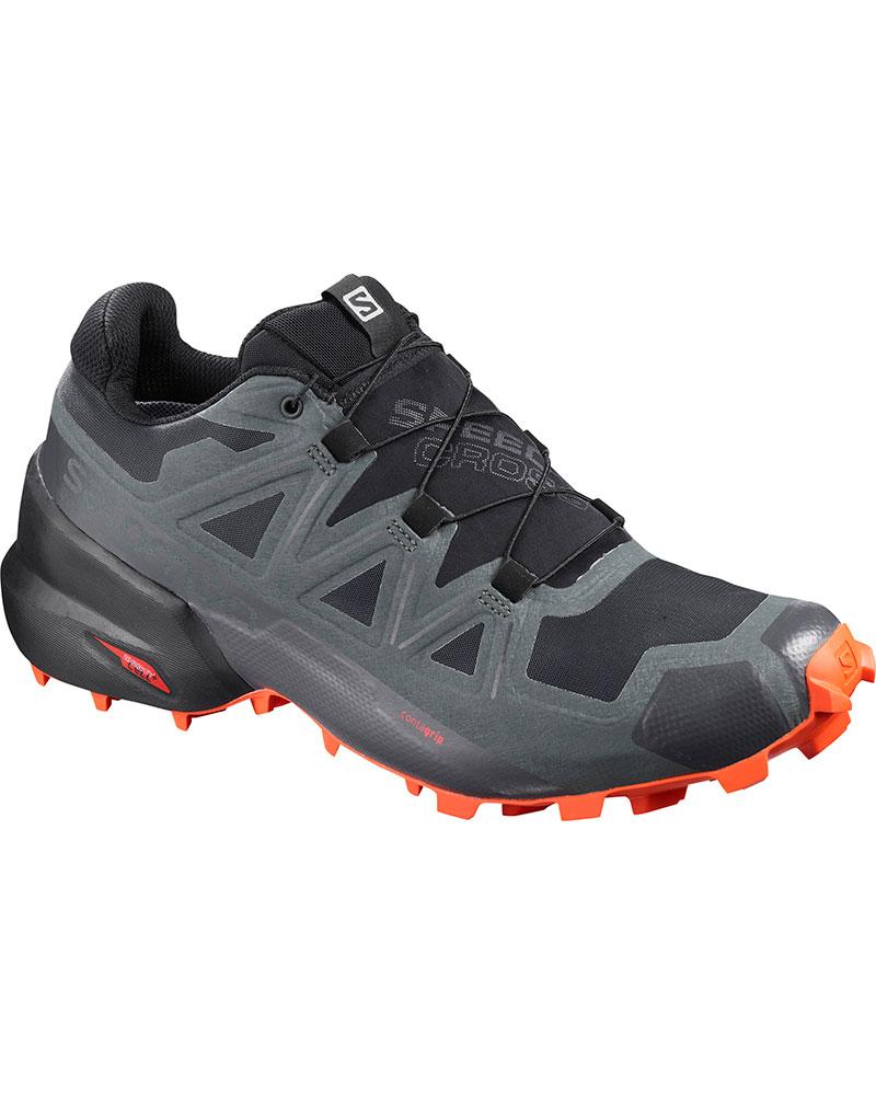 Salomon Men's Speedcross 5 GORE-TEX Trail Running Shoes Black/Urban Chic/Cherry Tomato 0