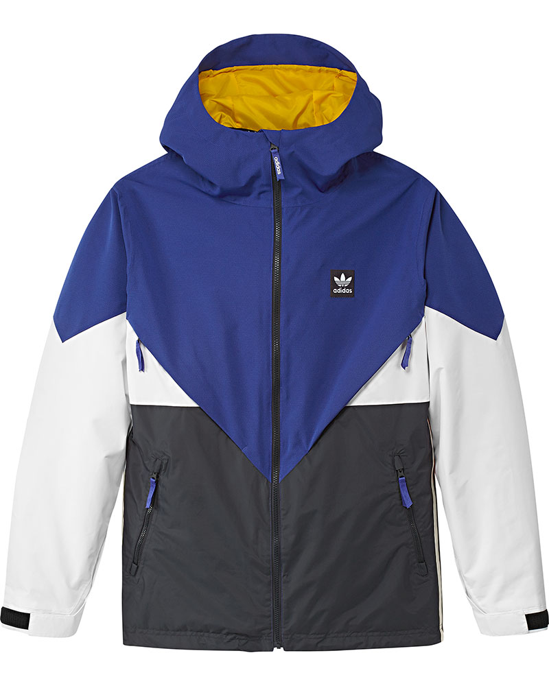 Adidas Men's Premiere Riding Snowboard Jacket 2019 / 2020 Active Blue/Carbon/Cream White/White 0