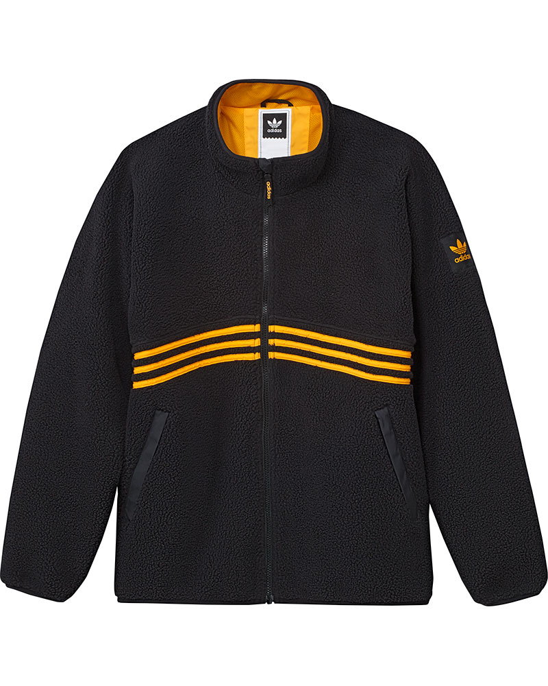 Adidas Men's Sherpa Full Zip Top Black/Orange 0