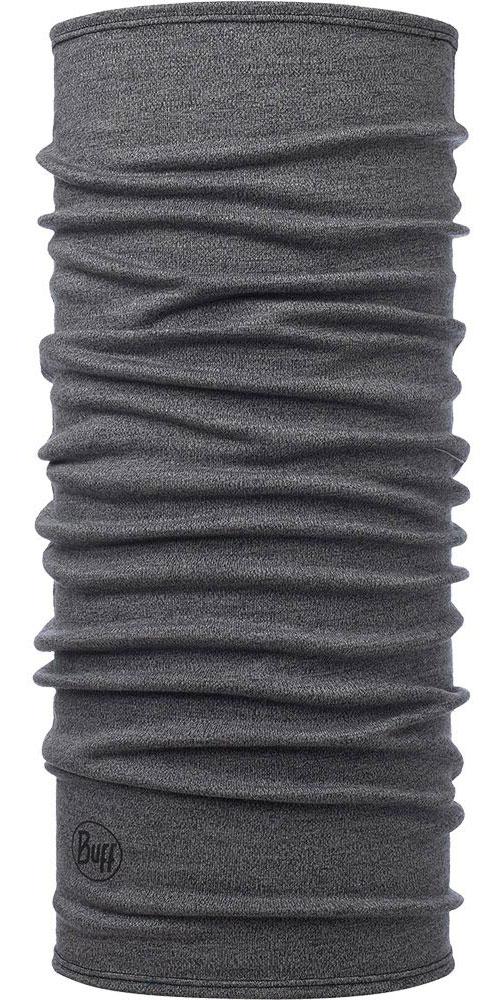 Buff Merino Wool 250 - Light Grey Melange Neck Warmer 0