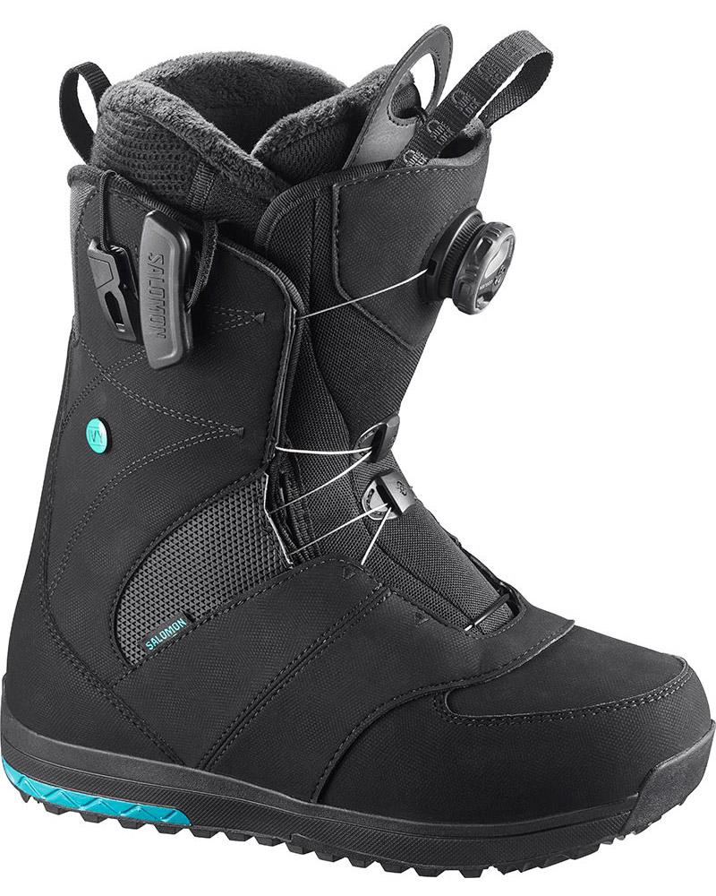 Salomon Women's Ivy Boa Str8jkt Snowboard Boots 2017 / 2018 Black 0
