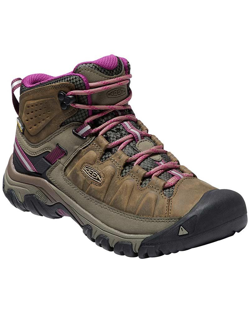 Keen Women's Targhee III Mid Waterproof Walking Boots Weiss/Boysenberry 0
