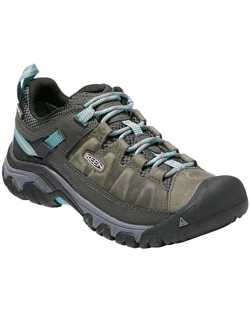 Keen Women's Targhee III Low Waterproof Walking Shoes Alcatraz/Blue Turquoise 0