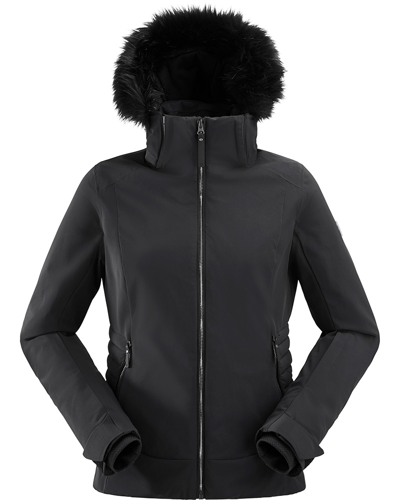 Eider Women's Squaw Valley Faux Fur Ski Jacket Black 0