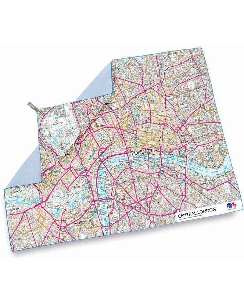 Product image of Lifeventure SoftFibre OS Map Towel - Giant - Central London