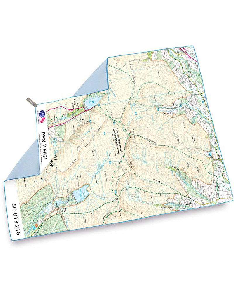 Product image of Lifeventure SoftFibre OS Map Towel - Giant - Pen y Fan