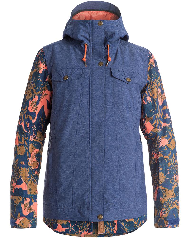 Roxy Women's Ceder Snowsports Jacket Blue Print 0
