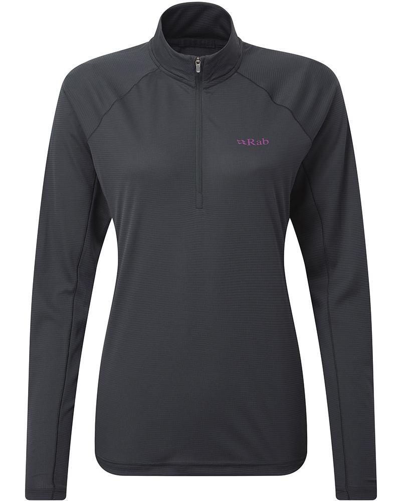 Rab Women's L/S Pulse Zip T-Shirt 0