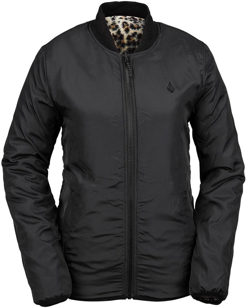 Volcom Women's Reversible Polar Jacket Reversible Black 0