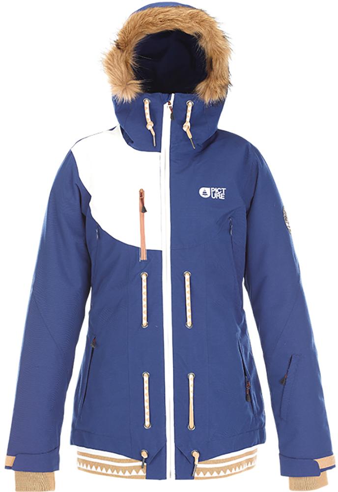 Picture Women's Cooler Ski Jacket Dark Blue/white 0