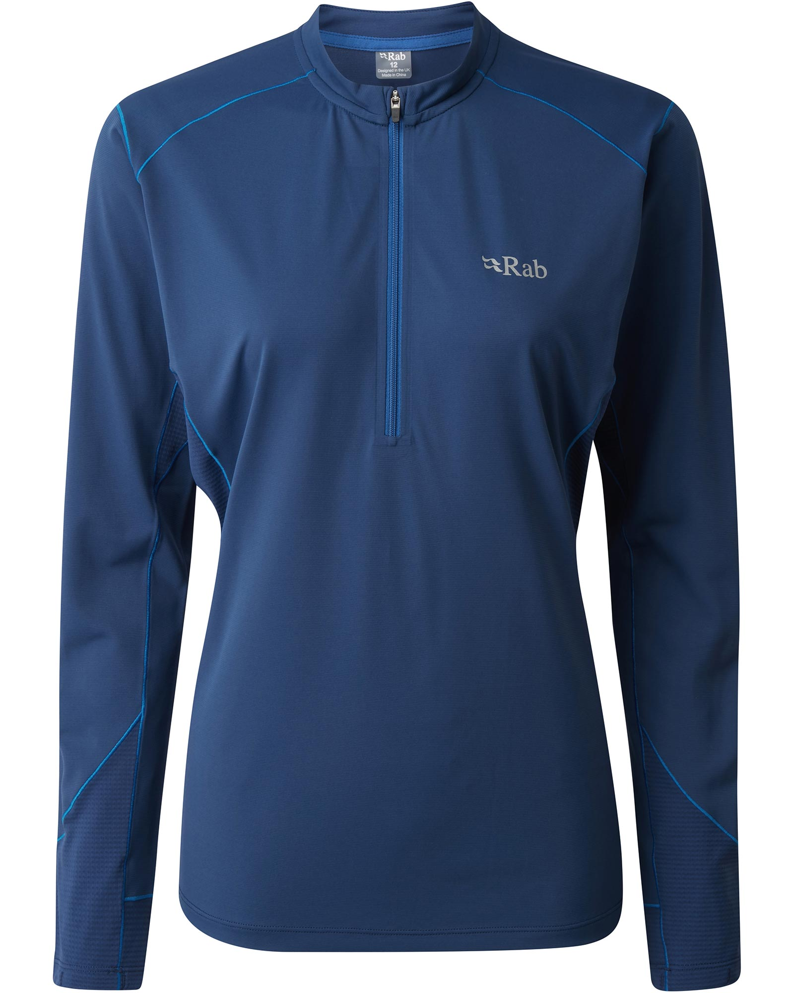 Rab Women's Sonic Long Sleeve T-Shirt Blueprint 0