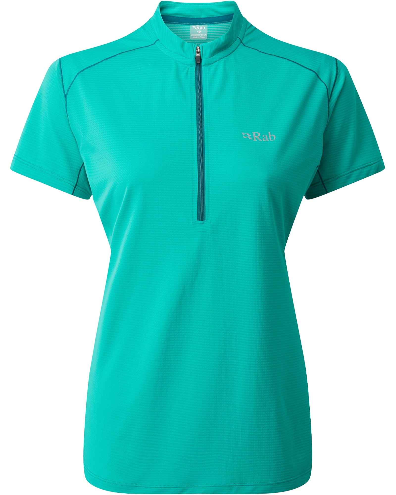 Rab Women's Sonic Short Sleeve Zip Neck Peacock Green 0