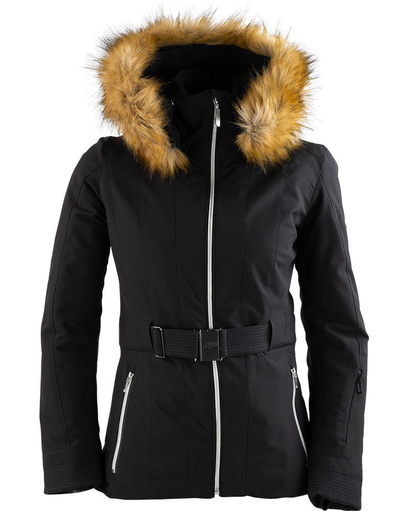 Henri Duvillard Women's Meije Ski Jacket - Faux Fur Black/White 0