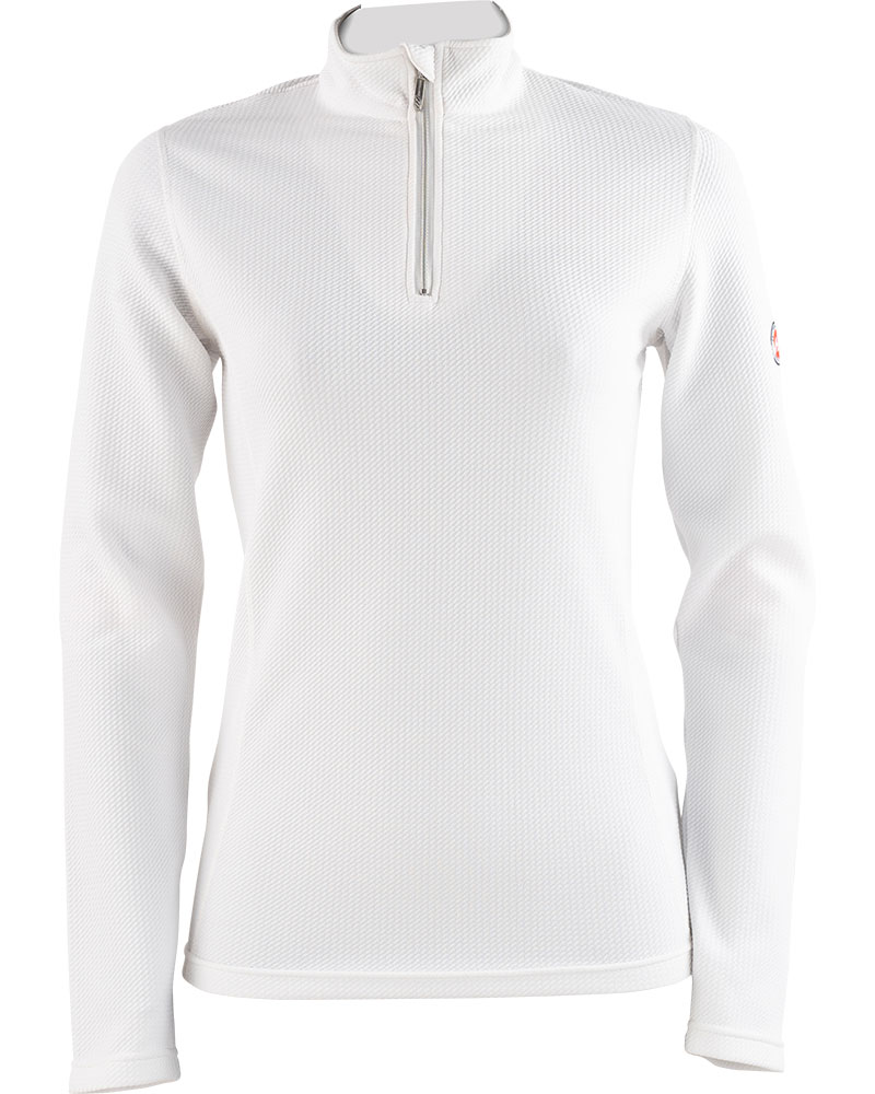 Henri Duvillard Women's Gaube Zip Neck White 0