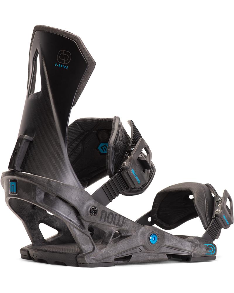 NOW Men's O-Drive Snowboard Bindings 2019 / 2020 Black 0