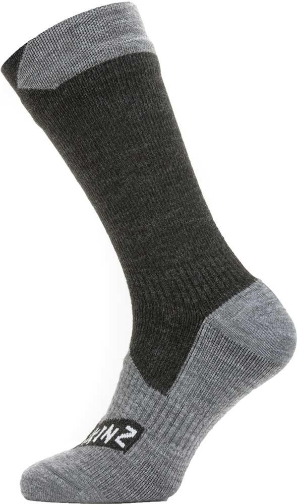 Sealskinz Waterproof All Weather Mid Length Socks Black 0