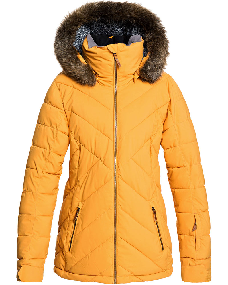 Roxy Women's Quinn Ski Jacket Spruce Yellow 0