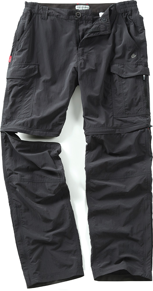 Craghoppers Men's NosiLife Convertible Pants Black Pepper 0