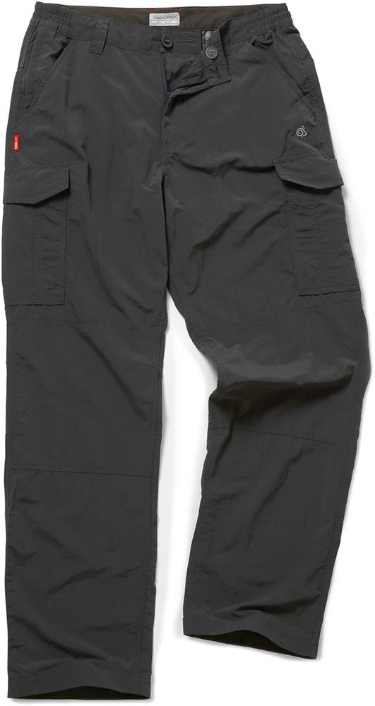 "Craghoppers Men's NosiLife Cargo Trousers 33"" Black Pepper 0"