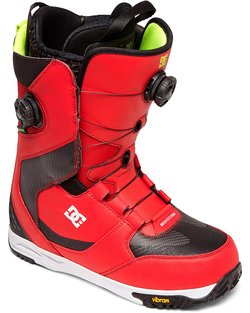 DC Men's Shuksan Double Boa Snowboard Boots 2019 / 2020 Red 0