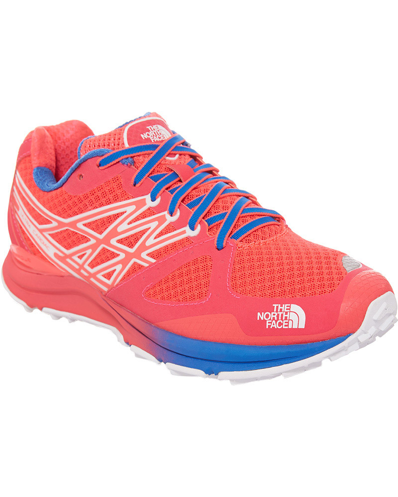 The North Face Women's Ultra Cardiac Trail Running Shoes Rocket Red/Blue Quartz 0