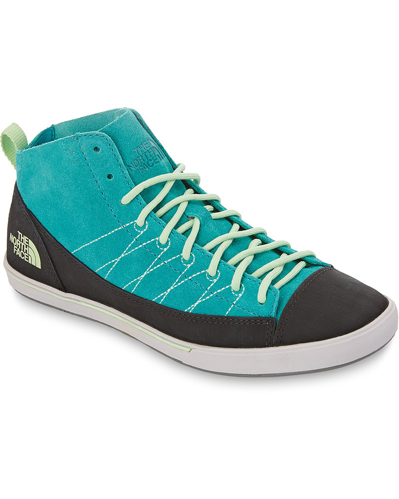 The North Face Women's Base Camp Mid Approach Shoes Teal Blue/Paradise Green 0