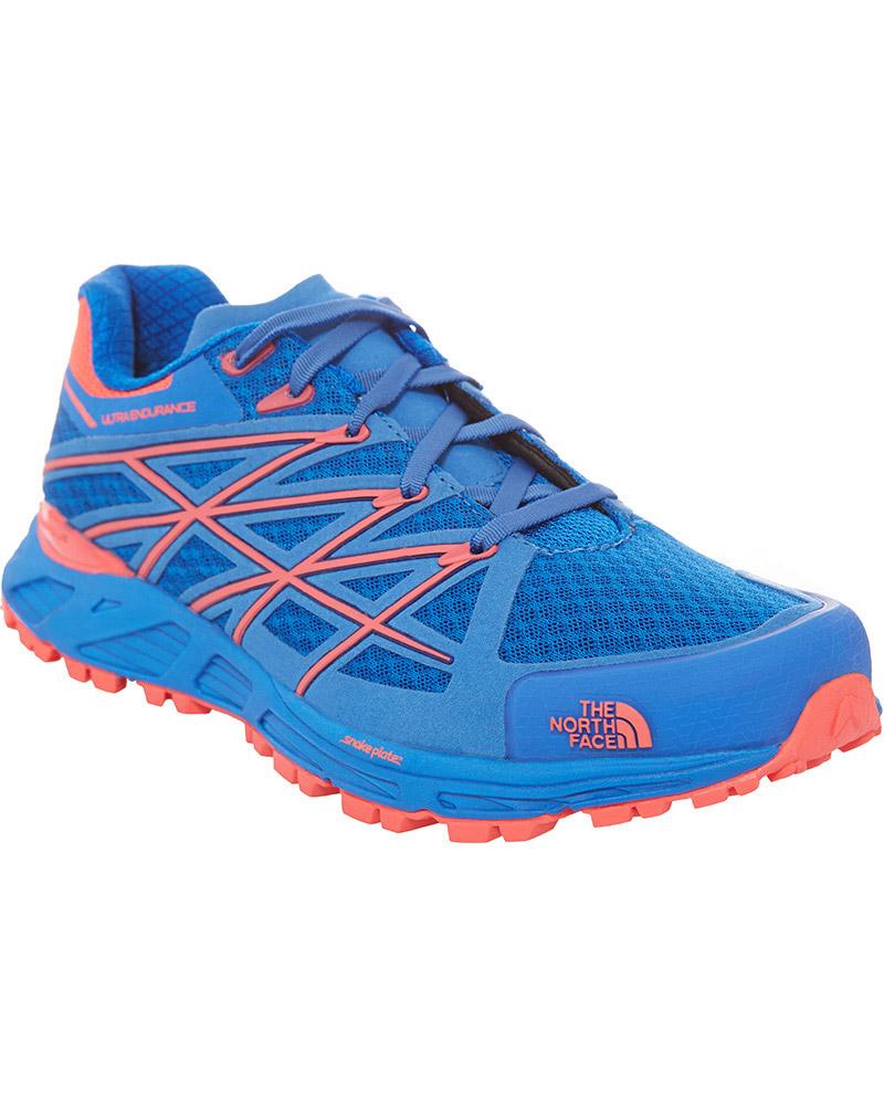The North Face Women's Ultra Endurance Trail Running Shoes Blue Quartz/Rocket Red 0