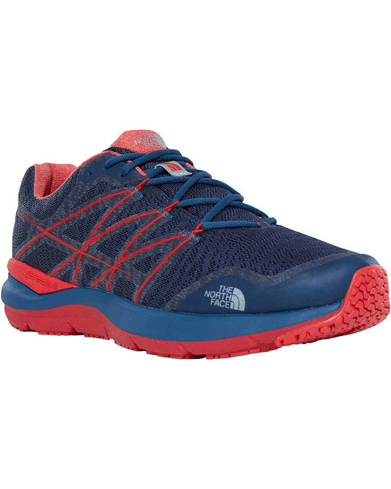 The North Face Men's Ultra Cardiac II Trail Running Shoes Shady Blue/High Risk Red 0