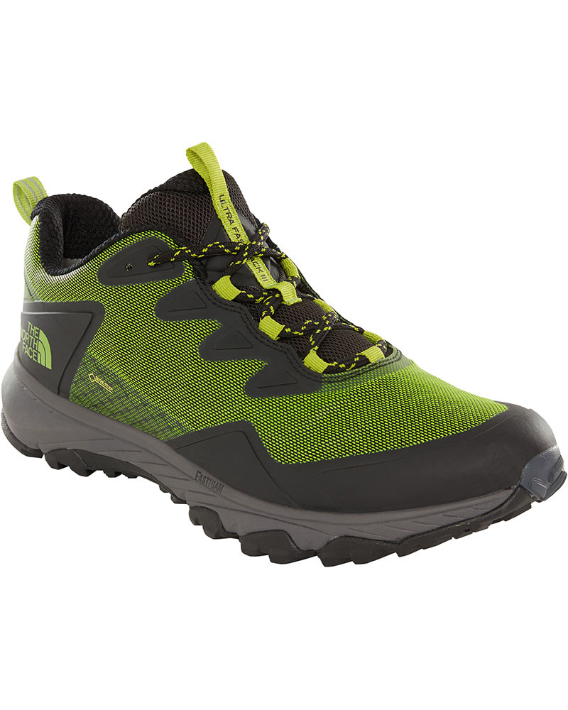 The North Face Men's Ultra Fastpack III GORE-TEX Walking Shoes TNF Black/Tender Green 0