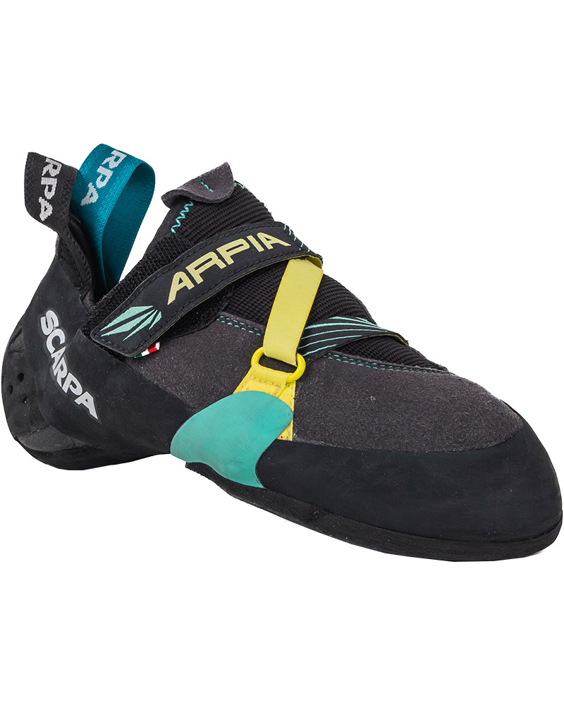 Scarpa Women's Arpia Climbing Shoes Black/Aqua 0