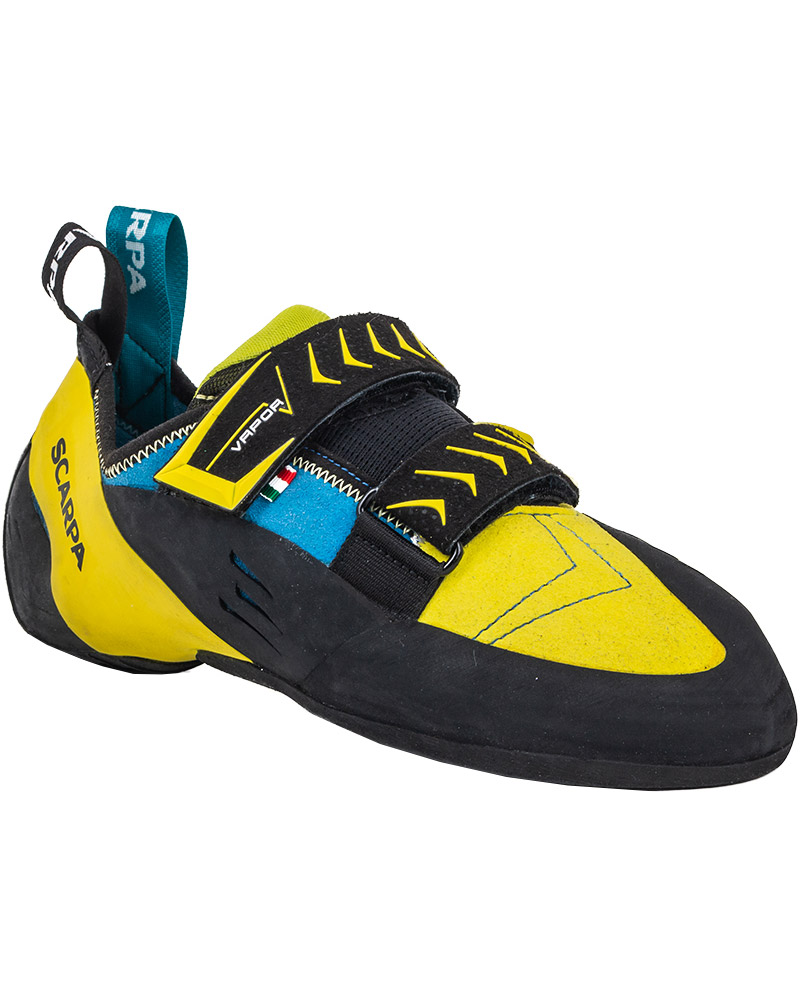 Scarpa Men's Vapour V Climbing Shoes Ocean/Yellow 0
