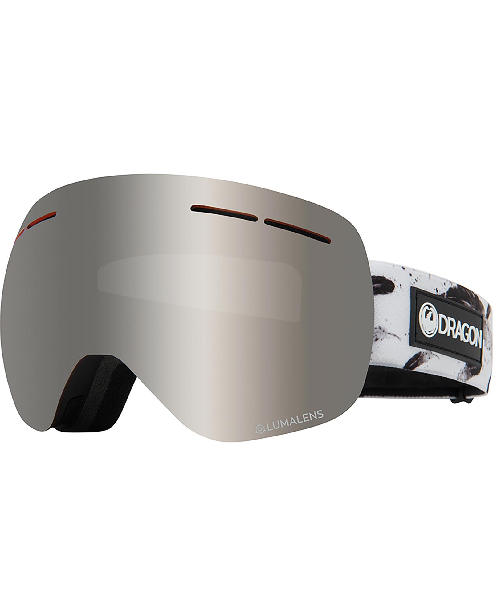 Dragon X1s Feather / Lumalens Silver Ionized + Lumalens Flash Blue Women's Goggles 0