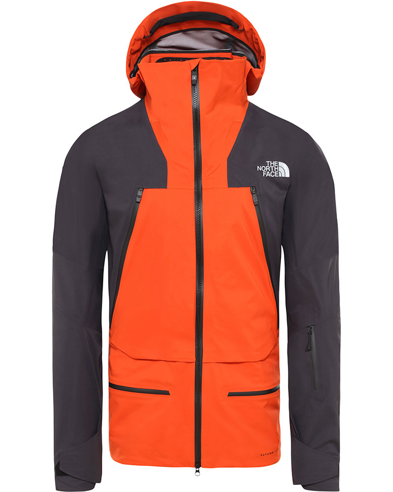 The North Face Men's Steep Series Purist FUTURELIGHT Ski Jacket Papaya Orange/Weathered Black 0
