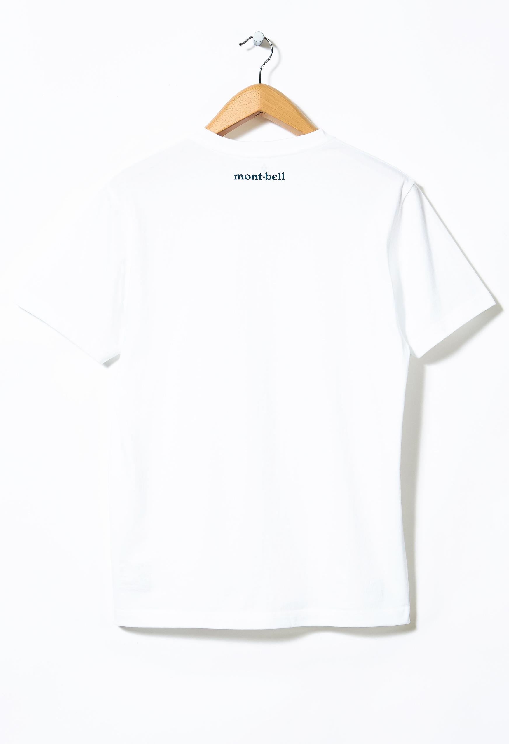 Montbell Men's Pear Skin Cotton Back Logo T-Shirt 0