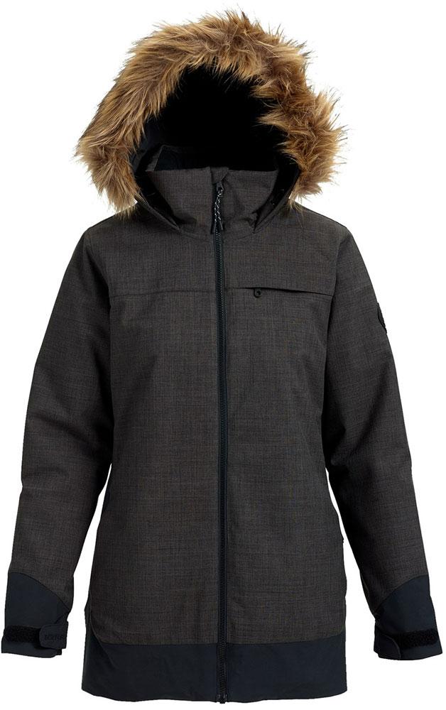 Burton Women's Lelah Snowboard Jacket 2019 / 2020 True Black Heather/True Black 0