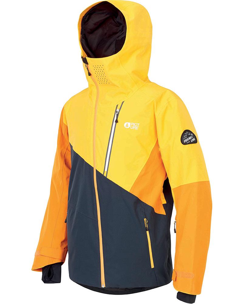 Picture Men's Alpin Ski Jacket Dark Blue/Yellow 0