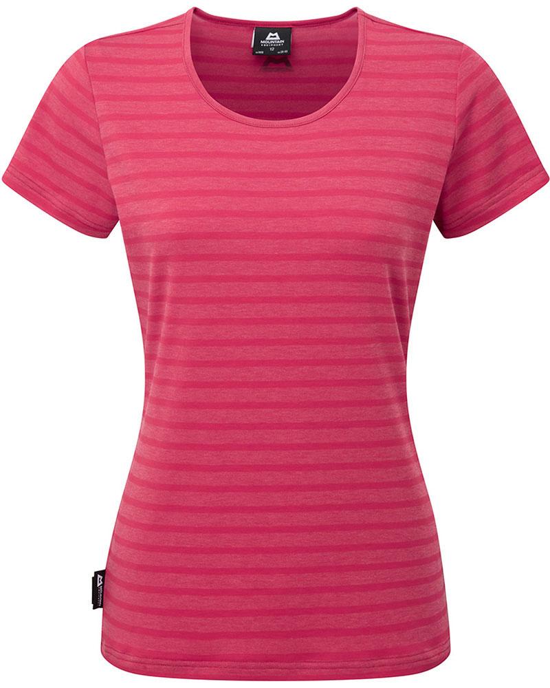 Mountain Equipment Women's Groundup Stripe T-Shirt Poppy Stripe 0